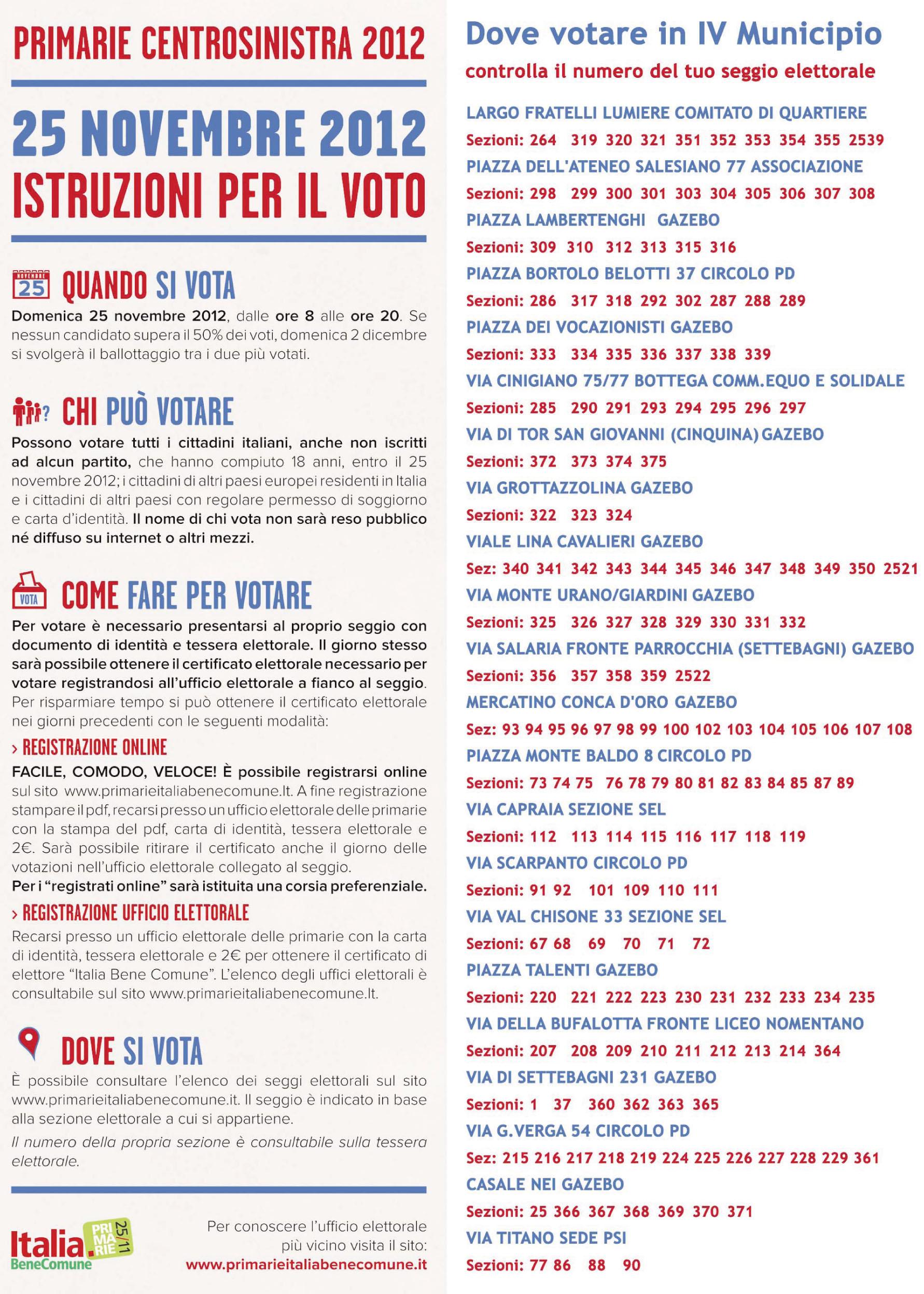 Read more about the article Primarie Pd, dove andare a votare in IV Municipio